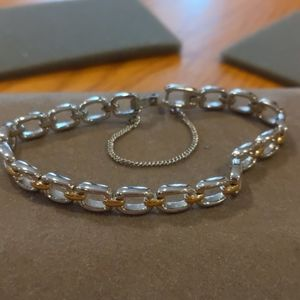 Jewelry - Sterling silver with gold accent bracelet